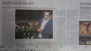 Wine connoisseur Sanjay Menon
